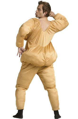 Fun World Men's Fat Suit, Beige, STD. up to 6'/200 Lbs by Fun World