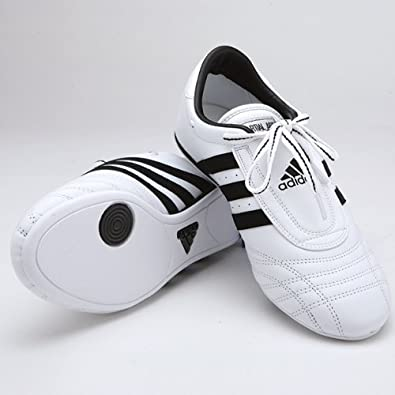 brand new d10b9 7252f Image Unavailable. Image not available for. Color  Adidas Low Cut Martial  Arts Sneaker White with Black Stripes size 12