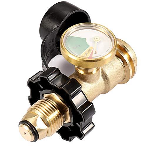 WRKAMA OUTDOOR Propane Tank Gauge Gas Pressure Digital Tank Gauge Rv Camper Cylinder Bbq Gas Grill Heater Pol To Qcc1 Adaptor (With Dust Cap) Gas Level Indicator Leak Detector