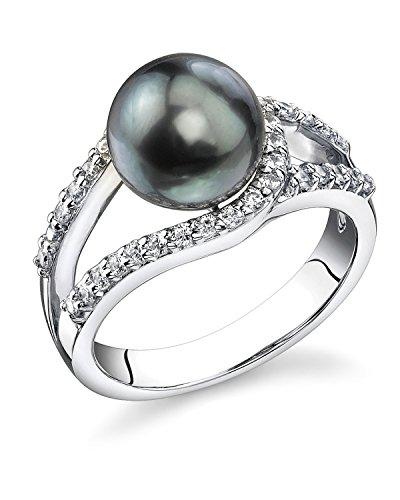 9mm Cultured Pearl Ring (9mm Tahitian Cultured Pearl Tessa Ring)