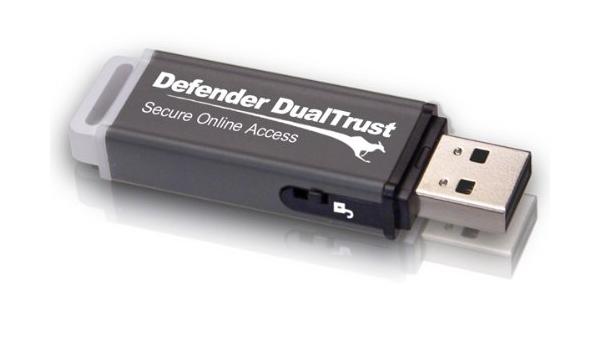 Defender DualTrust KDFDT 8 GB USB 2.0 Flash Drive Gray