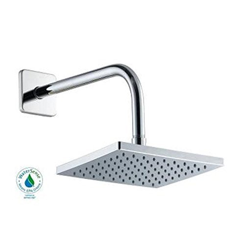 Glacier Bay 1-spray 8 In. Square Showerhead in Chrome