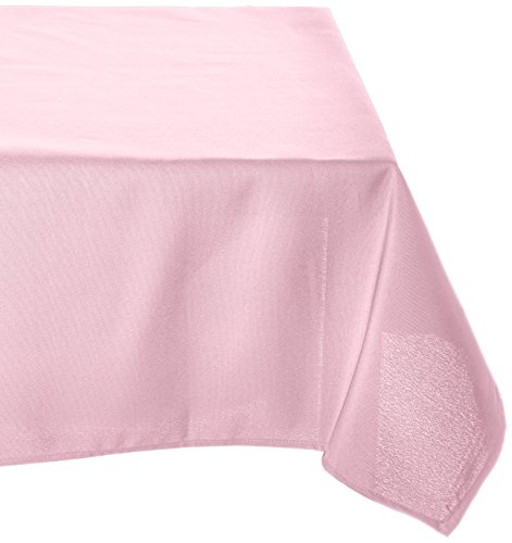 LinenTablecloth 60 x 126-Inch Rectangular Polyester Tablecloth (Light Pink Table Cloth)