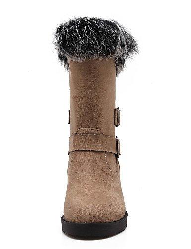 us9 Eu40 Cn41 Bottine Marron Uk7 Arrondi Xzz Bottes Femme Chaussures Noir Plateforme Faux Bout Beige Habillé Daim Beige Zq6TZ