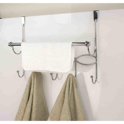 Home Basics DH41137 OTD Hook W/Towel bar Chrome