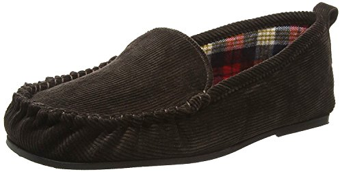 Corduroy Mens with Moccasin Sole Rubber ADRIEN Slippers Brown Famous Dunlop vqfwnxq1UC
