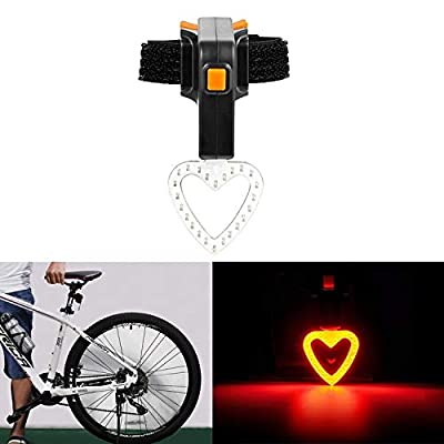 Cycling Equipment USB Charging Riding Light Rear Lamp Safety Warning Light (Heart Shape Style),Bicycle taillights light: Everything Else