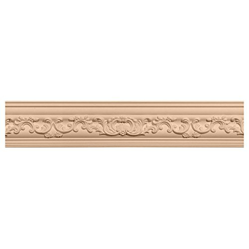 Ekena Millwork MLD03X03X05MECH 3 1/2-Inch H x 3 5/8-Inch P x 5-Inch F x 96-Inch L Medway Carved Wood Crown Moulding, Cherry by Ekena (Cherry Crown Moulding)