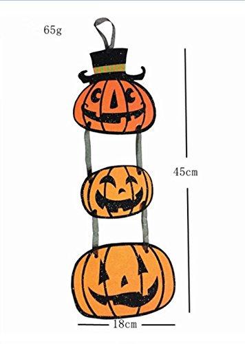 AFSTUP halloween door decorations Halloween Trick or Treat Hanging Sign Decoration Happy Halloween Board Sign Door Wall Hanging Decoration (pumpkin)
