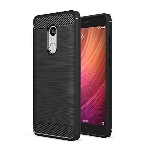 Funda para teléfono LG K8 2018, Kingshark Funda protectora flexible Funda protectora para teléfono Shell suave de caucho TPU para LG K8 2018 - Transparente Negro
