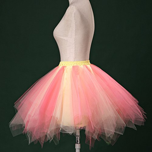 Datant Années Skirt Tulle 50s Bulle Puffy Yellow Ballet coral Lscy De Partie Couches Tutu Jupe Jupon Des rCBdeQxWo