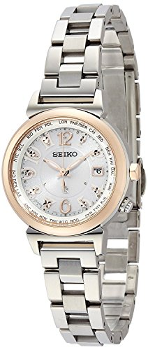 SEIKO WATCH watch LUKIA Rukia sub-media model Lucky passport solar radio Modify sapphire glass super clear coating for everyday life waterproof SSVV002 Ladies