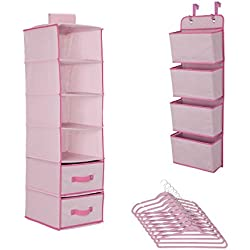 Delta Children Complete Nursery Organization 12-Piece Set, Barely Pink