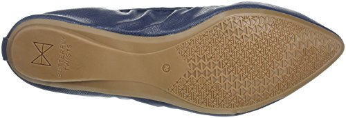 Women's Butterfly Navy Ii Janey Blue Twists Toe Closed Ballet Flats O11A7q