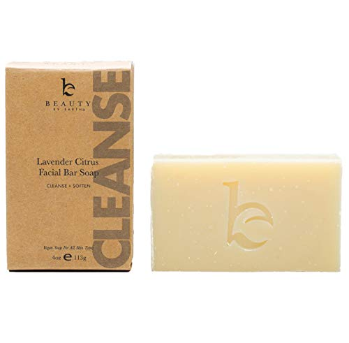 Organic Face Wash Bar Soap - Lavender Citrus Facial Cleanser Soap Bar for Dry or Sensitive Skin, Natural Soap Face Cleanser, Organic Soap, Womens & Mens Face Wash Soap Bars, Vegan Soap for Face Care ()