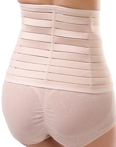 Alivila. Y Fashion algodón frontal Busk cierre corsés diario desgaste cintura formación para mujer crema