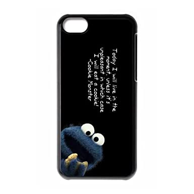 Cute Cookie Monster Eating Custom Design Apple Iphone 5c Hard Case Cover Phone Cases Covers
