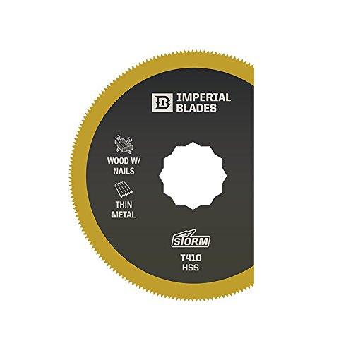 Imperial Blades SCT410 3-Inch Titanium Coated High Speed Steel Segment Multi-Tool Blade Fits Fein SuperCut and Festool Vecturo, 1-Pack