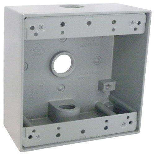 Master Electrician TGB50-3 Weatherproof 2 Gang Outlet Box ()