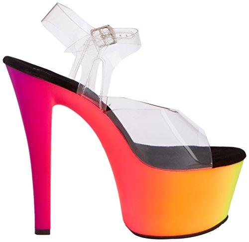 Color 38 Mehrfarbig Tacón Talla De Zapatos 308uv Pleaser Rainbow 7CqXwxaFF