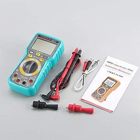 2900A Digital Automotive Multimeter 6000 Count AC//DC Volt Amp Ohm Diode Tester