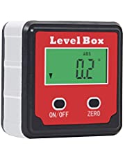 Beslands Digital Angle Finder Level Box Backlight LCD Angle Gauge Protractor Inclinometer with Aluminium Framework Magnetic Base Saw Electronic Finding