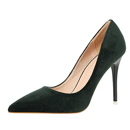 946d6f2aba07bc Women s Slip On Pointed Toe Closed-Toe High-Heeled Shoes Ladies Stiletto  Overdose High