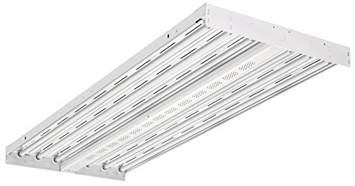 Lithonia Lighting IBZT5 6 WD 6-Light T5HO Contractor Select Fluorescent High Bay, White