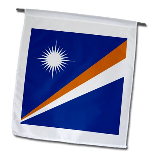 InspirationzStore Flags - Flag of the Marshall Islands - navy blue orange stripe and white star - Marshallese Pacific Islands - Flags - 18 x 27 inch Garden Flag