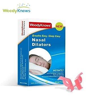 WoodyKnows (3 piezas) Advanced Anti ronquidos Dilatadores Nasales contra Ronquidos Reduce al Instante los