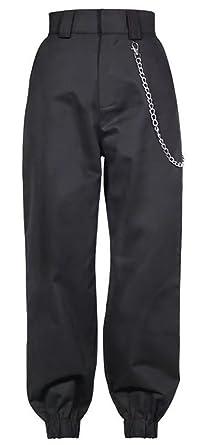 13843b1167 LifeShe Women High Waist Cargo Pants Joggers with Chain at Amazon ...