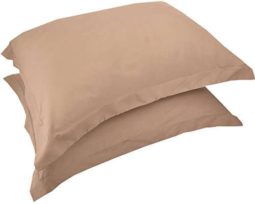 Mezzati Luxury Shams Set of 2 - Soft and Comfortable 1800 Prestige Collection - Brushed Microfiber Bedding(Cappuccino, Set of 2 Standard Size Shams Size)