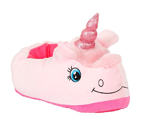 peluche femme fantaisie fille Chaussons licorne Rose animal en qpFwUE