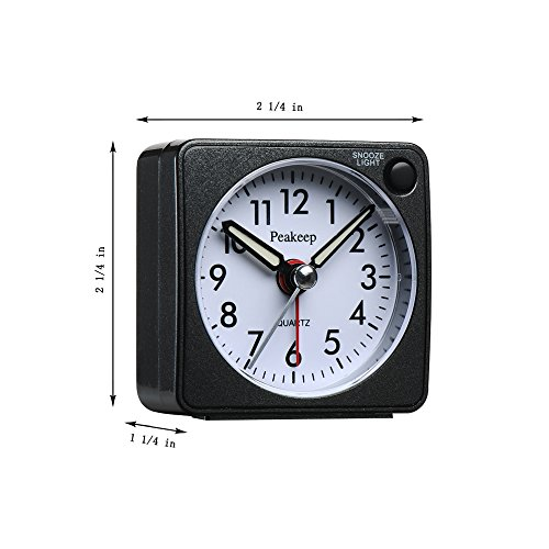 Peakeep Digital Alarm Clock Battery Operated With Large