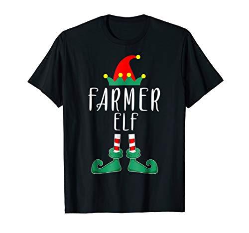 Farmer Elf Costume Christmas Holiday Matching T-Shirt Funny ()