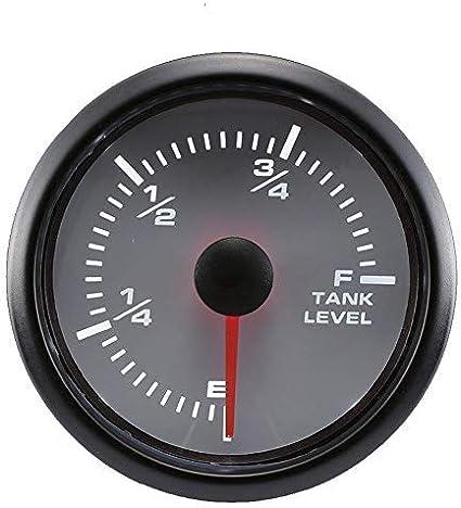MOTOR METER RACING Clock Gauge 2 Blue LED Backlit Waterproof Pin-Style Install