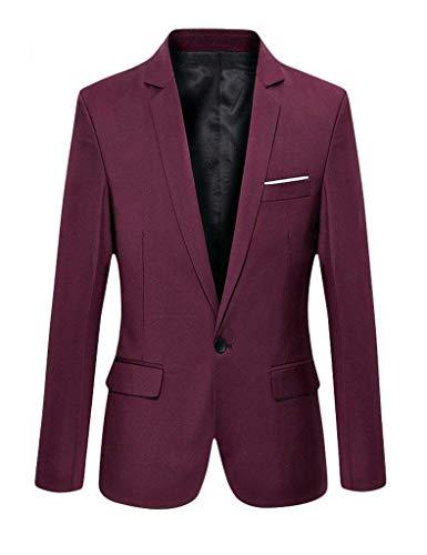 Abiti Blazer Fashion Hx Slim Autunno Tempo Fit Giacche Da Il Giacca Smoking Libero Business Uomo Per Winered Suit Taglie Sposa Comode Elegante XRrqRd