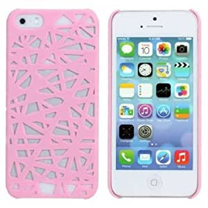 Elegant Bird's Nest Pattern Plastic Protector Case For iPhone 5 5S @ Color==Red