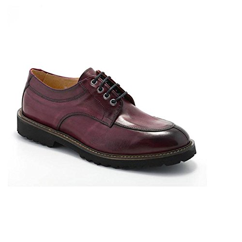 EXTON Zapato hombre elegante Oxford roja 9054