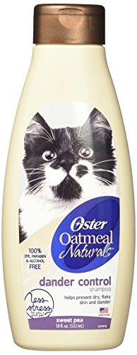 Oster Oatmeal Naturals Dander Control Cat Shampoo, Sweet Pea, 18 Fluid Ounces (078590-736-002)