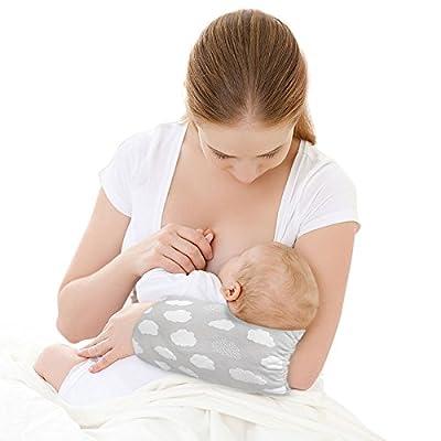 GoPillow Lite Hands-Free Wearable Arm Cushion Breastfeeding Nursing Pillow Grey Newborn Baby