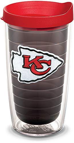 Tervis 1058495 NFL Kansas City Chiefs Primary Logo Tumbler with Emblem and Red Lid 16oz, Quartz