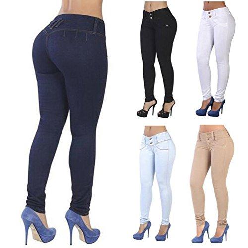 Jean Pantalones Skinny Vaqueros de Pantalones Mujer pitillo mezclilla Azul mujeres para TieNew Hipsters Fit Slimline Stretch Slim mujer tqxXZap