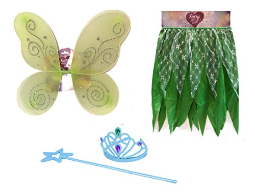 Woodland Fairy Costumes Kids - Princess Fairy- Fairy Costumes For Girls (Pretty Fairy Wings)
