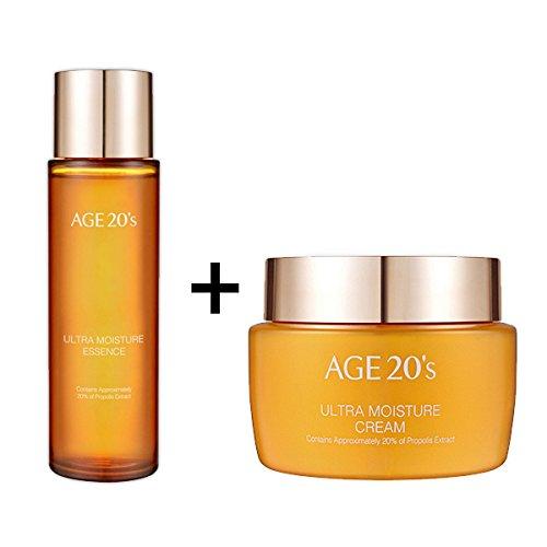 [AGE 20'S]Ultra Moisture Essence 150ml + Ultra Moisture Cream 100g-Anti-Wrinkle, Whitening ([AGE 20'S]Ultra Moisture Essence150ml+Cream100g) (Ultra Cream Stop Moisturizing)