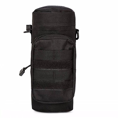 Money coming shop Nylon Water Bottle Pouch Water-repellent Zipper Camo Water Bottle Tactical Military Pack Bag for Travel Climbing