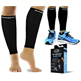 Pro Calf Compression Sleeve Men & Womens (20-30mmHg) - Shin Splint Leg Compression Sleeve for Instant Leg Pain Relief, Circulation & Recovery Socks - Compression Sleeves for Runners, Cramps