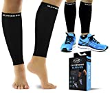 Pro Calf Compression Sleeve Womens & Men (20-30mmHg) - Shin Splint Compression Sleeve for Instant Leg Pain Relief, Circulation & Recovery Socks - Compression Sleeves for Calves for Runners, Cramps