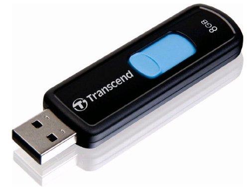 - Transcend 8 GB JetFlash 500 Retractable USB 2.0 Flash Drive - TS8GJF500 (Black)