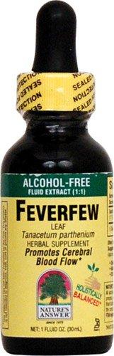 Feverfew Leaf Alcohol - Nature's Answer Feverfew Leaf Alcohol Free -- 1 fl oz - 2pc